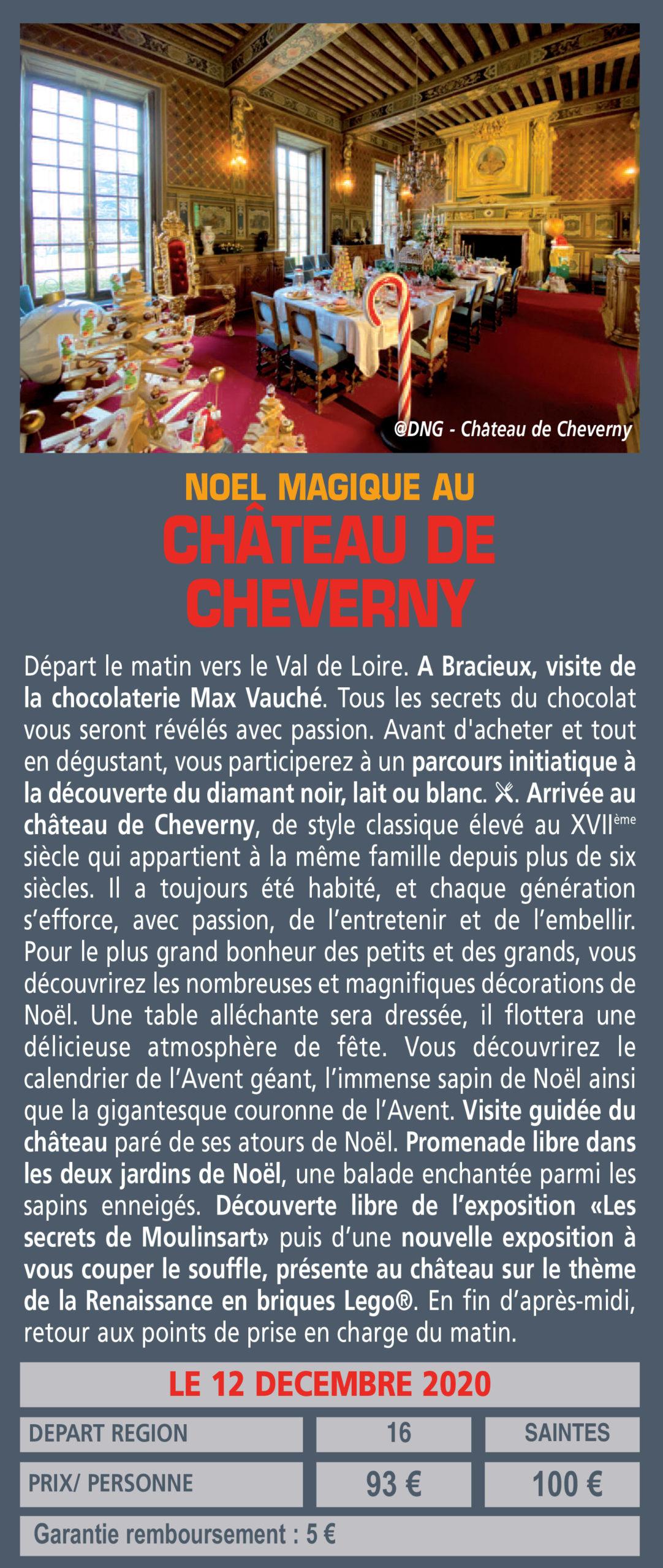 NOEL MAGIQUE AU CHÂTEAU DE CHEVERNY