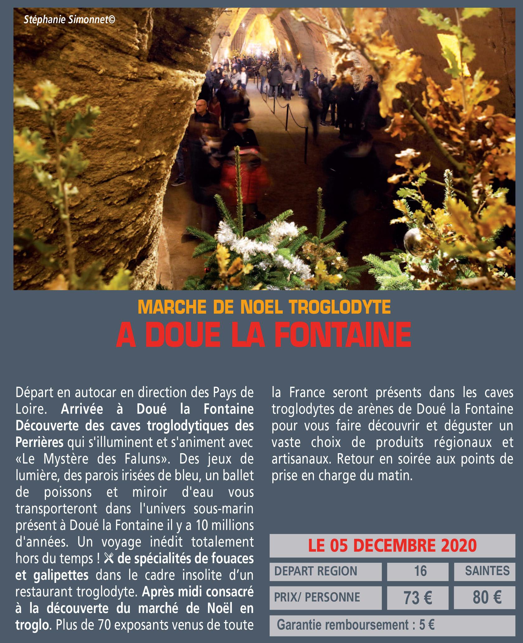 MARCHE DE NOEL TROGLODYTE A DOUE LA FONTAINE