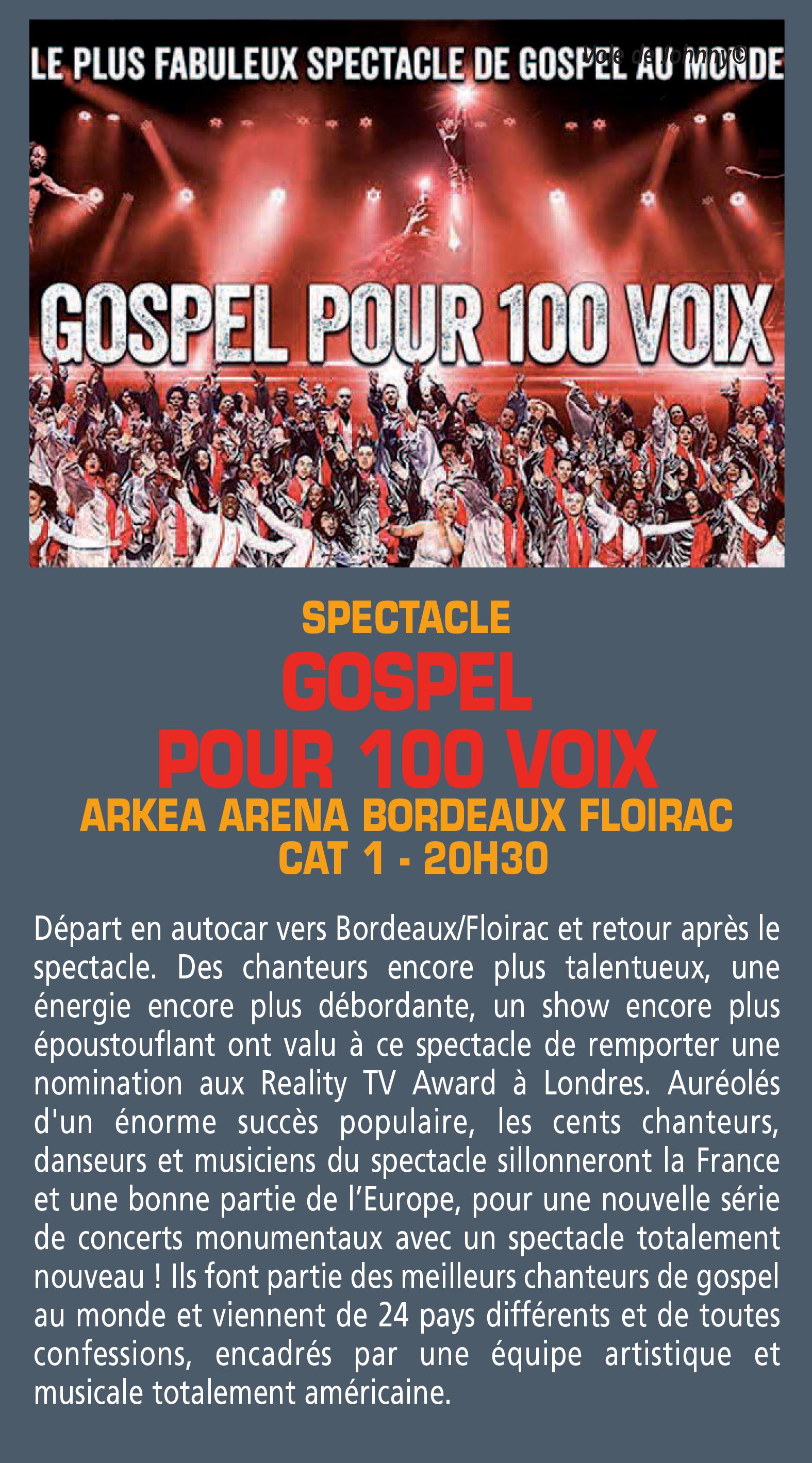GOSPEL POUR 100 VOIX - 12 MARS 2021